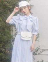 Dress Spring 2021 Black, white, blue stripes Average size chest 90 waist 60 to 80 length 88 other