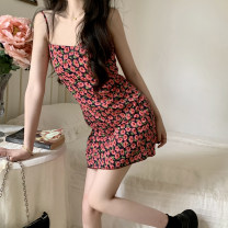 Dress Summer 2021 Picture color,? S,M,L Short skirt singleton  Sleeveless commute Decor camisole 18-24 years old Type A Other / other other