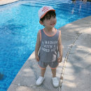 suit Bella 73cm,80cm,90cm,100cm,110cm,120cm male summer leisure time Sleeveless + pants 2 pieces Thin money There are models in the real shooting Socket nothing children Expression of love 3 months, 6 months, 12 months, 9 months, 18 months, 2 years old, 3 years old