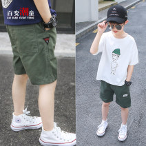 trousers Changing trend children male 110cm 120cm 130cm 140cm 150cm 160cm 170cm Army green! goods in stock! khaki! goods in stock! Black! goods in stock! Don't be greedy for big size summer shorts leisure time There are models in the real shooting Casual pants Leather belt middle-waisted Cotton 100%