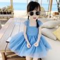 Dress L64 - Island blue , O46 - Peach powder , G75 - Tender purple female Other / other 80, 90, 100, 110, 120, 130 Other 100% summer Korean version Skirt / vest Solid color other A-line skirt U29166 18 months