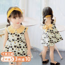 Dress female Hey, bamboo 80cm 90cm 100cm 110cm 120cm 130cm Other 100% summer princess Skirt / vest other cotton Splicing style Class B Summer of 2019 12 months, 18 months, 2 years old, 3 years old, 4 years old, 5 years old, 6 years old Chinese Mainland