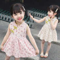 Dress female Hey, bamboo 80cm 90cm 100cm 110cm 120cm Cotton 95% polyurethane elastic fiber (spandex) 5% summer ethnic style Skirt / vest other cotton other Class B Summer of 2019 12 months 18 months 2 years 3 years 4 years 5 years old Chinese Mainland Guangdong Province