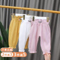 trousers Hey, bamboo female 80cm 90cm 100cm 110cm 120cm 0gk038 grey wool ball anti mosquito pants 0gk038 pink wool ball anti mosquito pants 0gk038 white wool ball anti mosquito pants 0gk038 yellow wool ball anti mosquito pants ice silk cotton hemp, comfortable, breathable and not muggy summer cotton