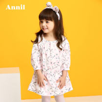Dress F055 baihuanghua x12 baifenhua female Annil / anel 80cm 90cm 100cm 110cm 120cm Cotton 100% spring and autumn lady Long sleeves Broken flowers Pure cotton (100% cotton content) TG813102 Class A Spring of 2018 2 years old, 3 years old, 4 years old, 5 years old, 6 years old