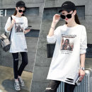 T-shirt white Average size Spring 2021 Long sleeves Crew neck easy Medium length routine commute cotton 86% (inclusive) -95% (inclusive) 25-29 years old Korean version originality Alphabetic characters 72 changes / 72 transformer Cotton 95% polyurethane elastic fiber (spandex) 5%