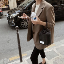 suit Autumn 2020 XXL S M L XL Long sleeves routine Straight cylinder tailored collar Single breasted commute routine Solid color 96% and above polyester fiber Duo Yuxi pocket Polyester 100%