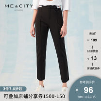 Casual pants Black 155/62A 155/64A 160/66A 160/68A 165/72A 170/74A Spring of 2019 trousers Pencil pants Natural waist routine 25-29 years old 51% (inclusive) - 70% (inclusive) Me&City Viscose fiber (viscose fiber) 65% polyamide fiber (polyamide fiber) 30% polyurethane elastic fiber (spandex) 5%