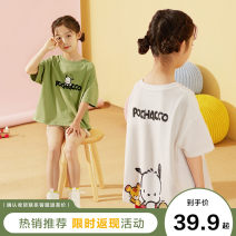 T-shirt 120cm 130cm 140cm 150cm 160cm female summer Short sleeve Crew neck leisure time There are models in the real shooting nothing cotton Cartoon animation Cotton 100% Class B other Summer 2021 Five, six, seven, eight, nine, ten, eleven, twelve Chinese Mainland Zhejiang Province Ningbo City