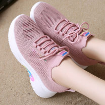 High shoes cloth PU Middle heel (3-5cm) Internal elevation Round head 35,36,37,38,39,40 Other / other Summer of 2018 Frenulum Youth (18-40 years old), children (under 18 years old) leisure time rubber Adhesive shoes Solid color PU crackle