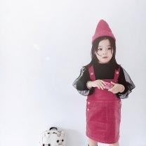 Dress Khaki, pink female Other / other 80cm,90cm,100cm,110cm Cotton 100% spring and autumn Versatile Strapless skirt Solid color cotton Strapless skirt Class A
