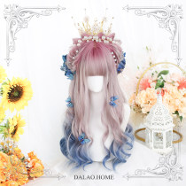 | Big brother's house |   Harajuku Soft girl Lolita Wigs 「 shadow Candle 」 solar system Gradients tender Curly long hair Curly hair