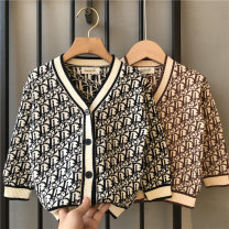 Sweater / sweater 90cm 100cm 110cm 120cm 130cm 140cm knitting male Khaki black Lupine cat leisure time Single breasted routine V-neck nothing Ordinary wool Cartoon animation Other 100% other Spring 2021 spring and autumn Chinese Mainland