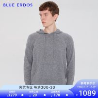 T-shirt / sweater blue erdos Business gentleman 165/84A/S 170/88A/M 175/92A/L 180/96A/XL 185/100A/XXL routine Socket Cap Long sleeves spring and autumn Cashmere (cashmere) 100% leisure time Business Casual youth routine Solid color Spring 2020 Same model in shopping mall (sold online and offline)