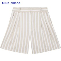 Casual pants Beige + white 155/60A/XS 160/64A/S 165/68A/M 170/72A/L 175/76A/XL Summer 2020 shorts Straight pants Natural waist 25-29 years old B205M5003 blue erdos Flax 70% Cotton 30% Same model in shopping mall (sold online and offline)