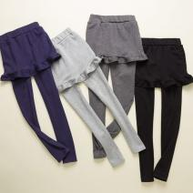 Leggings Autumn 2020 Black, dark grey, light grey, Navy, black (winter with velvet), dark grey (winter with velvet), light grey (winter with velvet), Navy (winter with velvet) S,M,L,XL,2XL routine Solid Ruffle Fanyunnu other 96% and above