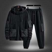 Leisure sports suit spring M L XL 2XL 3XL 4XL 5XL 391-htlb black 391-htlb white 390-htlb white 390-htlb blue Long sleeves TFU trousers youth 391-HTLB Spring 2021