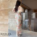 Dress Spring 2021 Pink (model), mint S, M longuette Short sleeve
