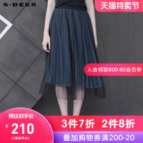skirt Summer of 2019 S/160 M/165 L/170 XL/175 Qunqing / 73 Mid length dress commute Natural waist A-line skirt letter Type A 25-29 years old S19281108 More than 95% other s.deer cotton Ol style Cotton 99% other 1% Same model in shopping mall (sold online and offline)