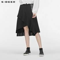 skirt Autumn of 2019 S/160 M/165 L/170 XL/175 Black / 91 longuette Natural waist Irregular other Type A 25-29 years old S19381108 81% (inclusive) - 90% (inclusive) s.deer polyester fiber Polyester fiber 90% polyurethane elastic fiber (spandex) 10% Same model in shopping mall (sold online and offline)