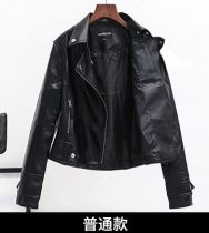 leather clothing Fall 2017 black S M L XL 2XL 3XL Other / other Short paragraph Self-cultivation Long sleeve zipper street conventional twenty-two thousand and fifty-four zipper 18-24 years old PU 51% (inclusive) -70% (inclusive)