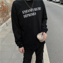 T-shirt Youth fashion black routine S,M,L,XL Long sleeves Crew neck easy daily spring