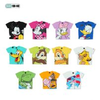 T-shirt Black, pink, violet, blue, lake blue, light green, light yellow, white, green, yellow, milky white Qianqujia 100cm,110cm,120cm,130cm,140cm female summer Long sleeves Crew neck leisure time No model nothing cotton Cartoon animation Cotton 100% Class A Sweat absorption Chinese Mainland