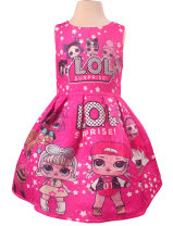 Dress female dgfstm 110cm,120cm,130cm,140cm Cotton 65% other 35% summer Europe and America Cartoon animation cotton Four, five, six, seven, eight, nine, ten, eleven