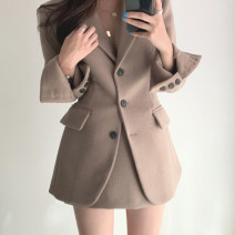 Fashion suit Winter 2020 Average size Khaki top, black top, Khaki Skirt s, Khaki Skirt M, black skirt s, Black Skirt M 18-25 years old 604445a4634d0