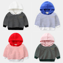 Sweater / sweater Other / other Blue and white striped Hoodie, red and white striped Hoodie, green base powder striped Hoodie, black and white striped Hoodie male 90cm,100cm,110cm,120cm,130cm spring and autumn No detachable cap leisure time Socket routine No model cotton stripe Other 100% wt1606