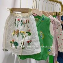 Dress White embroidered skirt female Other / other 80cm,90cm,100cm,110cm,120cm,130cm Cotton 100% summer cotton Pleats 7 years old, 3 years old, 6 years old, 18 months old, 2 years old, 5 years old, 4 years old Chinese Mainland