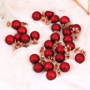 Ear Studs Alloy / silver / gold RMB 1.00-9.99 Easy make up S925 silver needle red ball snowflake size red ball earrings S925 silver needle crown red ball brand new Japan and South Korea female goods in stock Fresh out of the oven Alloy inlaid artificial gem / semi gem