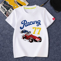 T-shirt Dingdang camp Children s 85-90cm children m 90-100cm children L 100-110cm children XL 110-120cm children XXL 120-130cm children 3XL 130-140cm children 4XL 140-150cm male summer Short sleeve Crew neck motion There are models in the real shooting nothing Pure cotton (100% cotton content)