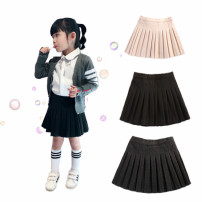 skirt 90cm,100cm,110cm,120cm,130cm Black, apricot Other / other female Other 100% spring and autumn skirt college Solid color cotton