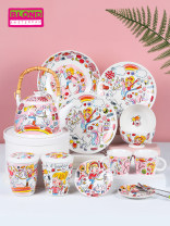 Western food tableware set Four people's food 11 pieces in color box