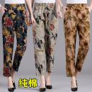 Casual pants 1, 2, 3, 4, 5 XL,2XL,3XL,4XL,5XL Spring 2020 trousers Straight pants High waist commute Thin money 40-49 years old 96% and above cotton Retro pocket cotton