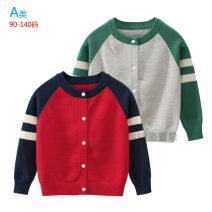 Sweater / sweater Size 90 (for height 90cm), size 100 (for height 100cm), Size 110 (for height 110cm), Size 120 (for height 120cm), Size 130 (for height 130cm), size 140 (for height 140cm) Pure cotton (100% cotton content) male Red, green Lin Oufan college No model Single breasted routine Crew neck