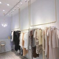 Clothing display rack Gold hanger 80 * 130, gold hanger 100 * 130, gold hanger 120 * 130, gold hanger 80 * 150, gold hanger 100 * 150, gold hanger 120 * 150, support any size customization clothing iron Official standard