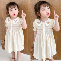 Dress Off white female Other / other 90cm,100cm,110cm,120cm,130cm,140cm Polyester 100% spring and autumn leisure time Short sleeve other cotton A-line skirt other Three, four, five, six, seven, eight Chinese Mainland Guangdong Province Guangzhou City