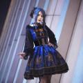 Lolita / soft girl / dress MILU One black grey jsk, one black blue jsk, one black waistband, grey chest bow, blue chest bow L,M,S Winter, autumn goods in stock Gothic, Lolita, soft girl