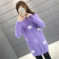 sweater Autumn of 2019 S M L XL Long sleeves Socket singleton  Medium length other 95% and above Half high collar Regular commute routine Solid color Self cultivation Regular wool Keep warm and warm 18-24 years old Stars and moon Other 100% Pure e-commerce (online only)