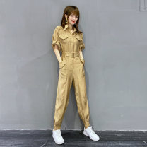 Casual pants Black, khaki, green S,M,L Spring 2021 trousers Jumpsuit Natural waist street routine 81% (inclusive) - 90% (inclusive) Y20X1746CP30 BatWriter other Resin fixation cotton Europe and America