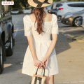 Dress Summer 2020 white S M L Middle-skirt other Short sleeve commute square neck High waist Solid color Socket A-line skirt puff sleeve Others 18-24 years old Type A Basabai Korean version Fold splicing BSBY20200625T03 More than 95% other polyester fiber Polyester 100% Pure e-commerce (online only)