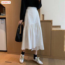 skirt Summer 2020 Average size White black longuette commute High waist Irregular Solid color Type A 18-24 years old BSBY20200630D03 51% (inclusive) - 70% (inclusive) other Basabai polyester fiber Asymmetry Polyester 70% other 30% Pure e-commerce (online only)