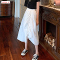 skirt Summer 2020 Average size s ml White black 7986 black 7986 gray 8668 dark blue S-L 9367 white 9367 purple 9906 light blue 9906 dark blue 88519 white 88519 black longuette commute High waist Irregular Solid color Type A 18-24 years old BSBY20200607D05 91% (inclusive) - 95% (inclusive) other