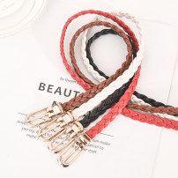 Belt / belt / chain other Black white brown red female belt Versatile Single loop Middle aged youth Pin buckle 1cm alloy Bare sequins Wet beauty SM-1243 Spring of 2019