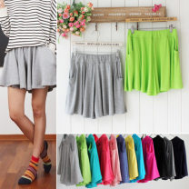 Casual pants Summer 2017 shorts High waist Versatile Thin money 91% (inclusive) - 95% (inclusive) Other / other modal  cotton Asymmetry