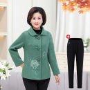 Middle aged and old women's wear Autumn of 2018 1XL [suitable for 90-110 kg] 2XL [suitable for 110-120 kg] 3XL [suitable for 120-135 kg] 4XL [suitable for 135-150 kg] fashion Jacket / jacket Self cultivation singleton  Solid color 40-49 years old Cardigan moderate Polo collar routine 3329LLDXH other