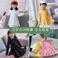 Dress Yellow, black, beige, pink female Other / other 7 (recommended height 90-100cm), 9 (recommended height 100-105cm), 11 (recommended height 105-110cm), 13 (recommended height 110-115cm), 15 (recommended height 115-125cm) Other 100% spring and autumn Korean version Long sleeves Solid color cotton