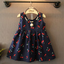 Dress As shown in the picture, the color does not include necklace Other / other female 7 9 11 13 15 Other 100% summer Korean version Skirt / vest Cartoon animation cotton A-line skirt bqz6171